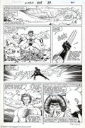 Original Comic Art:Panel Pages, John Romita Jr. and P. Craig Russell - Original Art for The Uncanny X-Men #209, page 21 (Marvel, 1986). It's all out war bet...