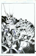 Original Comic Art:Covers, Bill Sienkiewicz - Original Cover Art for Rom #68 (Marvel, 1985).Here is an incredible action cover that could only have be...