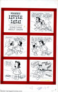 "Original Comic Art:Complete Story, John Stanley and Irving Tripp - Original Art for Marge's LittleLulu, Complete 3-page Story, ""Something About Snow"" (Gold Key, ..."