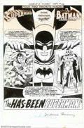 """Original Comic Art:Splash Pages, Curt Swan - Original Splash Page Art for World's Finest #178 (DC, 1968). Think you can't be captivated by an """"Imaginary Stor..."""