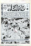 Original Comic Art:Covers, Wally Wood -Original Cover Art for Weird Science #12 (EC, 1952). Many of the finest comic artists of the 1950s gravitated to...