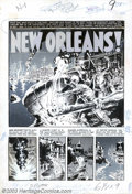 """Original Comic Art:Complete Story, Wally Wood - Original Art for Two-Fisted Tales #35, Complete 7-PageStory, """"New Orleans"""" (EC, 1953). Although best-known for..."""