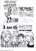 Original Comic Art:Paintings, Wally Wood - Original Art for Topps Nasty Notes #24 (Topps, 1967). Wally Wood was known for many things, but one of his more...