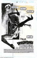 Original Comic Art:Splash Pages, Ashley Wood - Original Splash Page Art for Ghost Rider 2099 #16(Marvel, 1995). This is a dynamic piece of art that exhibits...