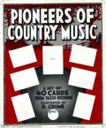 Original Comic Art:Miscellaneous, Robert Crumb - Original Art for Pioneers of Country Music promoposter (Yazoo Records). A larger, unique piece. This is the ...