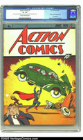 Golden Age (1938-1955):Superhero, Action Comics #1 (DC, 1938) CGC GD+ 2.5 Cream to off-white pages. Here's the comic book that started it all. No other book h...