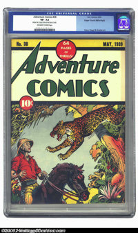 Adventure Comics #38 Mile High pedigree (DC, 1939) CGC VF- 7.5 Off-white to white pages. Appearing as new and sharp as i...