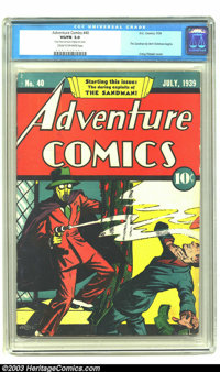 Adventure Comics #40 (DC, 1939) CGC VG/FN 5.0 Cream to off-white pages. Featuring the first conceived story of Sandman...