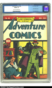 Adventure Comics #44 (DC, 1939) CGC FN/VF 7.0 Light tan to off-white pages. The distinctive style of Creig Flessel is a...