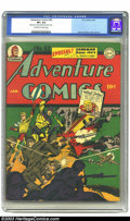 Golden Age (1938-1955):Superhero, Adventure Comics #82 (DC, 1943) CGC VF+ 8.5 Off-white to white pages. CGC's highest-graded copy of this Sandman-covered issu...