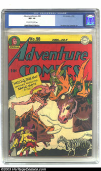 Adventure Comics #98 (DC, 1945) CGC NM 9.4 Off-white to white pages. Simon and Kirby art. Overstreet 2002 NM 9.4 value =...