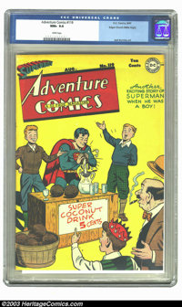 Adventure Comics #119 Mile High pedigree (DC, 1947) CGC NM+ 9.6 White pages. Superboy hand-squeezes coconuts on this sup...