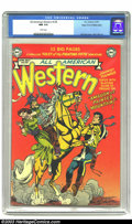 Golden Age (1938-1955):Western, All-American Western #120 Mile High pedigree (DC, 1951) CGC NM 9.4White pages. As the 1940s eased into the 1950s, changes i...