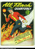 Golden Age (1938-1955):Superhero, All-Flash #1 (DC, 1941) Condition: VF/NM. The first issue of Flash's solo series is packed wall-to-wall with the Speedster's...