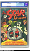 """Golden Age (1938-1955):Superhero, All Star Comics #8 (DC, 1942) CGC VG+ 4.5 Cream to off-white pages. The comics trivia question that sets apart the """"dabblers..."""