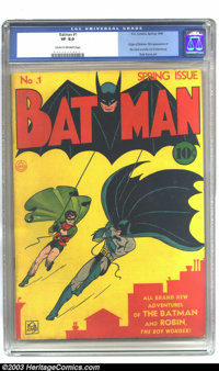 Batman #1 (DC, 1940) CGC VF 8.0 Cream to off-white pages. One of the most important and influential comics of all time...