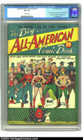 Golden Age (1938-1955):Superhero, The Big All-American Comic Book #1 (DC, 1944) CGC VF+ 8.5 Off-white pages. At 132 pages, this early DC annual could keep you...