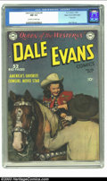 Golden Age (1938-1955):Western, Dale Evans Comics #9 Mile High pedigree (DC, 1950) CGC NM 9.4Off-white to white pages. The photo cover of this issue featur...