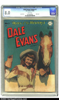 Golden Age (1938-1955):Western, Dale Evans Comics #1 (DC, 1948) CGC VF 8.0 White pages. This issuefeatures Alex Toth art on the Sierra Smith back up story ...