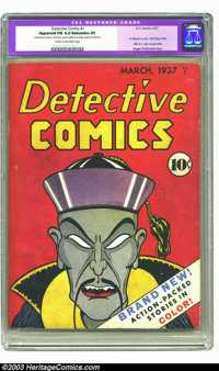 Detective Comics #1 (DC, 1937) CGC Apparent FN 6.0 Extensive (P) Cream to off-white pages. This is the scarce premiere i...