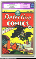 "Golden Age (1938-1955):Superhero, Detective Comics #27 (DC, 1939) CGC Apparent FN/VF 7.0 Moderate (P) Off-white to white pages. This monumental issue touts ""T..."