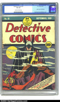 Golden Age (1938-1955):Superhero, Detective Comics #31 (DC, 1939) CGC VG 4.0 Cream to off-white pages. Bob Kane and Jerry Robinson create a classic cover for ...
