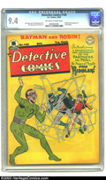 Golden Age (1938-1955):Superhero, Detective Comics #140 (DC, 1948) CGC NM 9.4 Off-white to white pages. One of Batman's greatest arch-adversaries, the Riddler...