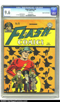 Golden Age (1938-1955):Superhero, Flash Comics #78 Mile High pedigree (DC, 1946) CGC NM+ 9.6 White pages. The Flash and his crew get decked out for Halloween ...