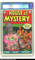 Golden Age (1938-1955):Horror, House of Mystery #8 White Mountain pedigree (DC, 1952) CGC VF/NM9.0 Off-white to white pages. Some of the hardest books to ...