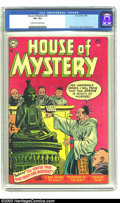 Golden Age (1938-1955):Horror, House of Mystery #30 (DC, 1954) CGC VF+ 8.5 Cream to off-whitepages. This early pre-code issue of DC's first horror title f...