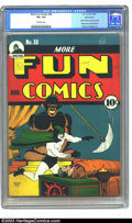 Golden Age (1938-1955):Superhero, More Fun Comics #58 Nova Scotia pedigree (DC, 1940) CGC VF+ 8.5 Off-white pages. After All Star Comics the hottest t...