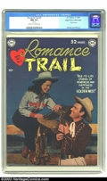 Golden Age (1938-1955):Western, Romance Trail #3 Mile High pedigree (DC, 1949) CGC NM 9.4 Off-whiteto white pages. Here is another great photo cover that h...