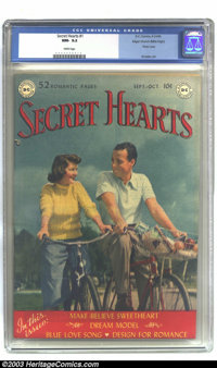 Secret Hearts #1 Mile High pedigree (DC, 1949) CGC NM- 9.2 White pages. Of DC's many titles produced during this period...