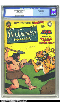 "Star Spangled Comics #71 Double cover (DC, 1947) CGC NM 9.4 Off-white pages. CGC notes: ""First cover NM- 9.2, inter..."