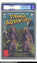 Golden Age (1938-1955):Science Fiction, Strange Adventures #1 (DC, 1950) CGC VF/NM 9.0 Off-white pages.DC's dominance during the 1950s, when so many comic publishe...