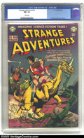Golden Age (1938-1955):Science Fiction, Strange Adventures #12 (DC, 1951) CGC NM- 9.2 White pages. DC'sfirst science-fiction title was already in high-gear when th...