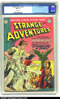 Golden Age (1938-1955):Science Fiction, Strange Adventures #20 (DC, 1952) CGC NM- 9.2 Off-white pages. Thelittle orange aliens on this cover conquer the Earth with...
