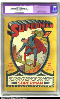 Superman #1 (DC, 1939) CGC Apparent VF- 7.5 Extensive (P) Off-white to white pages. Jerry Siegel and Joe Shuster's most...