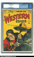 Golden Age (1938-1955):Western, Western Comics #10 Mile High pedigree (DC, 1949) NM+ 9.6 Whitepages. Under fire, the Wyoming Kid tries to distract the outl...
