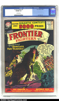 Frontier Fighters #6 (DC, 1956) CGC VF/NM 9.0 Off-white pages. Tales of Davy Crockett, Buffalo Bill (by Joe Kubert), and...