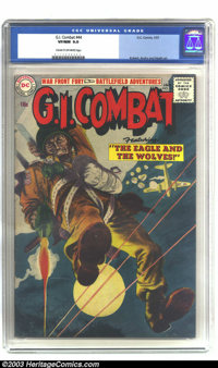 G.I. Combat #44 (DC, 1957) CGC VF/NM 9.0 Cream to off-white pages. This is the first occasion we have had to offer this...