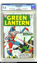 Silver Age (1956-1969):Superhero, Green Lantern #1 (DC, 1960) CGC VF/NM 9.0 Off-white pages. Flushwith the success of the Flash, DC took the lead in the earl...