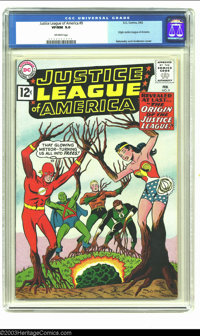 Justice League of America #9 (DC, 1962) CGC VF/NM 9.0 Off-white pages. Origin Justice League of America; Sekowsky and An...