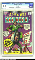Silver Age (1956-1969):War, Our Army At War #169 Boston pedigree (DC, 1966) CGC NM/MT 9.8 White pages. It's bad enough when a man has a monkey on his ba...