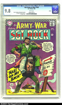 Our Army At War #169 Boston pedigree (DC, 1966) CGC NM/MT 9.8 White pages. It's bad enough when a man has a monkey on hi...