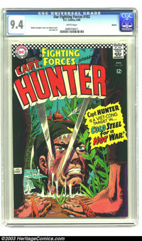 Our Fighting Forces #102 Boston pedigree (DC, 1966) CGC NM 9.4 White pages. Captain Hunter takes on Vietnam on this shar...