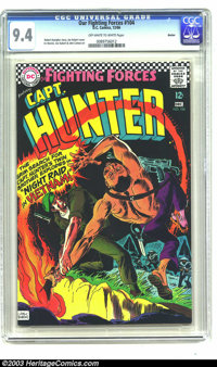 Our Fighting Forces #104 Boston pedigree (DC, 1966) CGC NM 9.4 Off-white to white pages. A great cover by Joe Kubert shi...