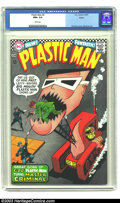 """Silver Age (1956-1969):Superhero, Plastic Man #4 Boston pedigree (DC, 1967) CGC NM+ 9.6 White pages. The top blurb proclaims this as """"funtastic"""", and with a c..."""