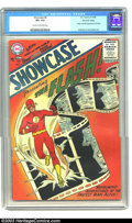 Silver Age (1956-1969):Superhero, Showcase #4 The Flash (DC, 1956) CGC VF+ 8.5 Cream to off-white pages. Here it is, folks, the comic that kicked off the Silv...