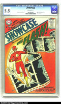 Silver Age (1956-1969):Superhero, Showcase #4 (DC, 1956) CGC FN- 5.5 Off-white pages. Generallyregarded as inaugurating the Silver Age of comics, Carmine Inf...